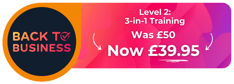 Banner showing our 3-in-1 food safety training offer